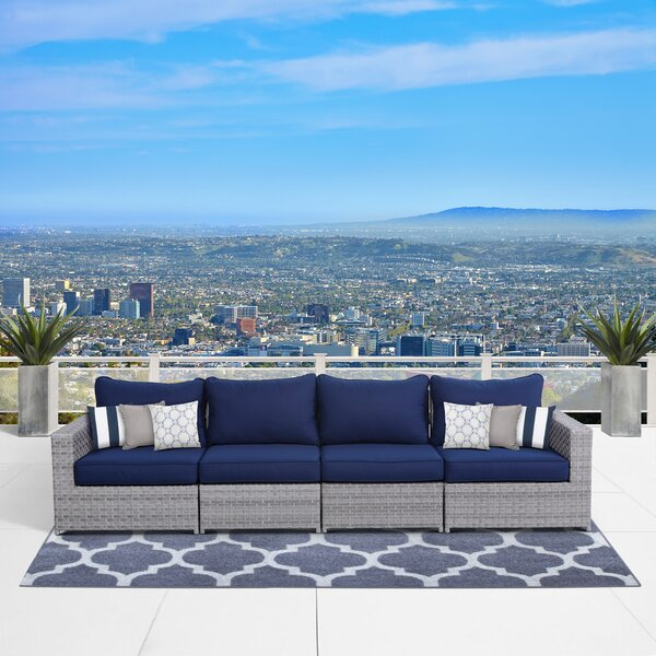 Kordell Patio Sofa with Cushions by Sol 72 Outdoor