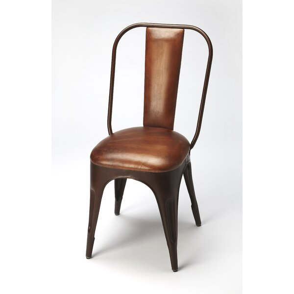 Corto Genuine Leather Upholstered Dining Chair by Trent Austin Design