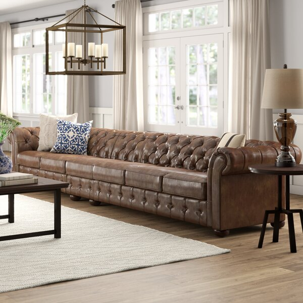 Gowans Traditional 6-Seater Button-Tufted Chesterfield Sofa by Three Posts