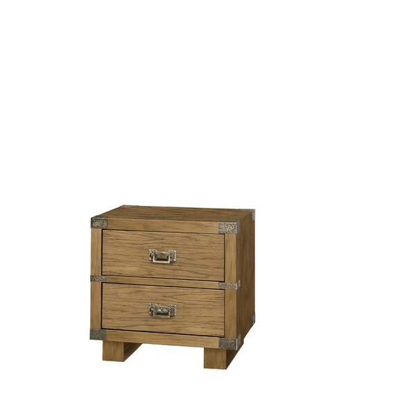 Sanor 2 Drawer Nightstand by Millwood Pines Millwood Pines