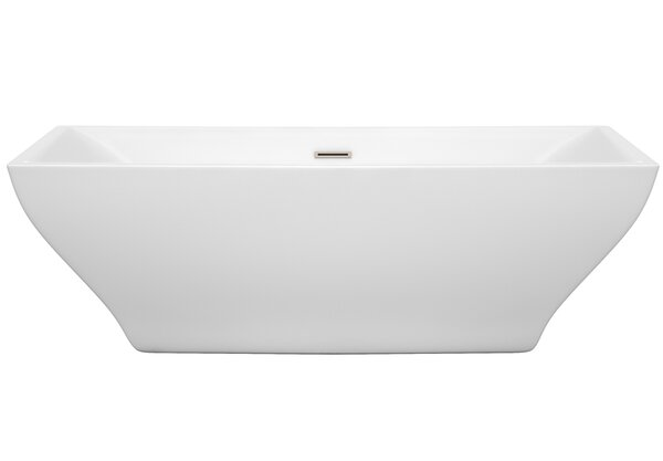 Maryam 70.75 x 31.25 Freestanding Soaking Bathtub by Wyndham Collection