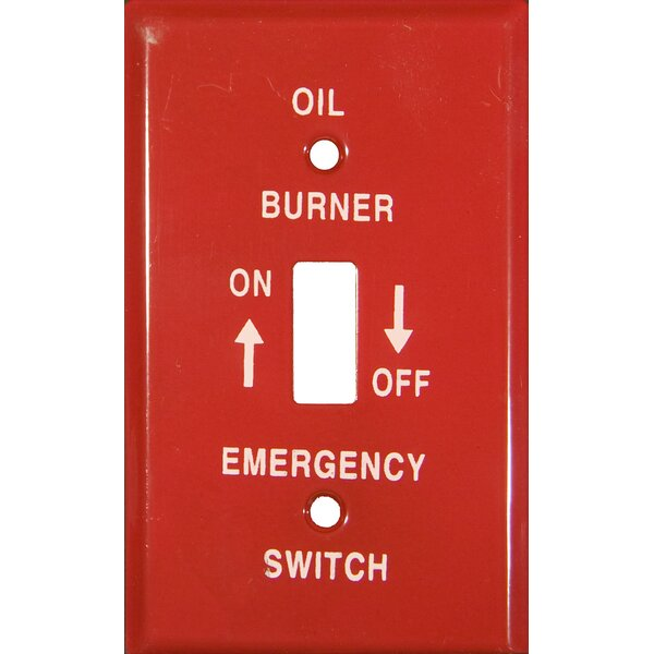 1 Gang Gas Emergency Metal Switch Plates by Morris Products