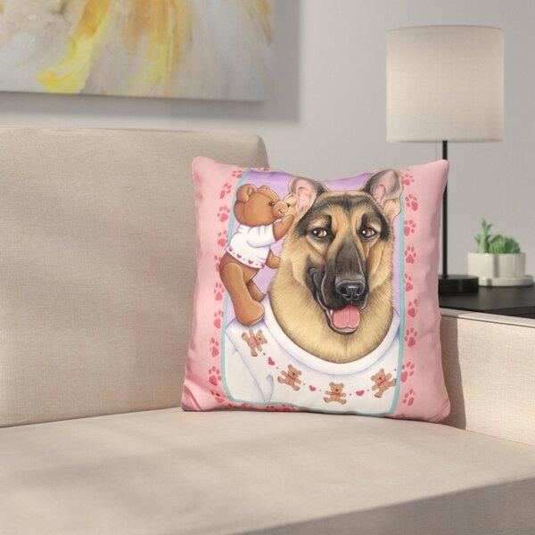 Shepherd Teddybear Throw Pillow by East Urban Home