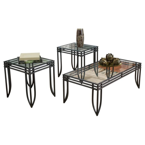 Jiles 3 Piece Coffee Table Set by Zipcode Design