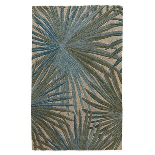 Arsos Hand-Knotted Wool Blue/Green Area Rug by Bay Isle Home