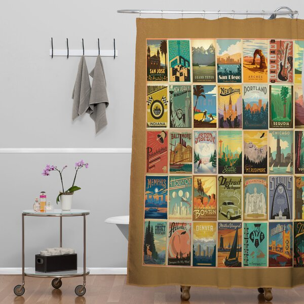 Anderson Design Group City Pattern Border Shower Curtain by Deny Designs