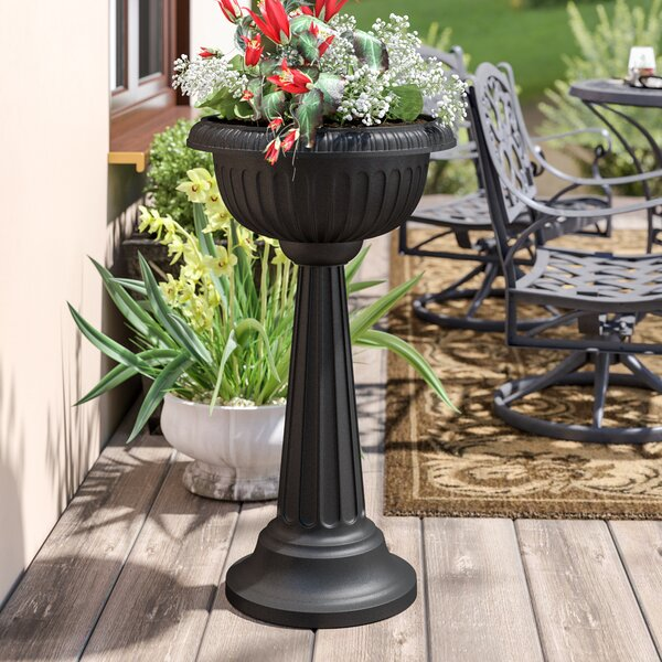 Belgrace Pedestal Plastic Urn Planter by Astoria Grand