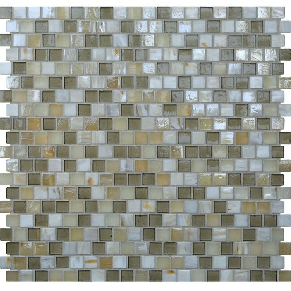 Opal 0.63 x 0.63 Glass Mosaic Tile in Casablanca by Kellani