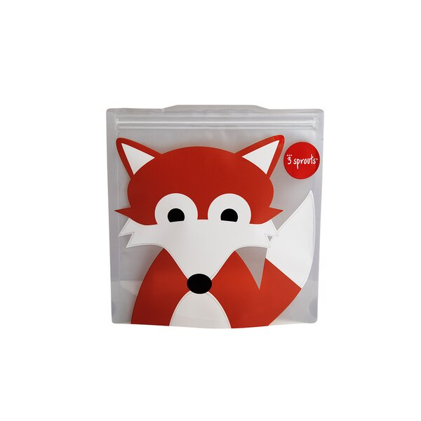 Fox Sandwich Bag (Set of 2) by 3 Sprouts