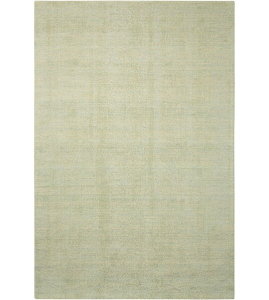Grand Suite Ottoman Hand-Woven Mist Area Rug by Waverly