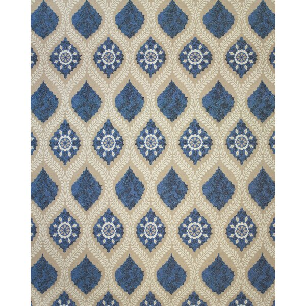 Thistle Tan/Blue Area Rug by Bungalow Rose