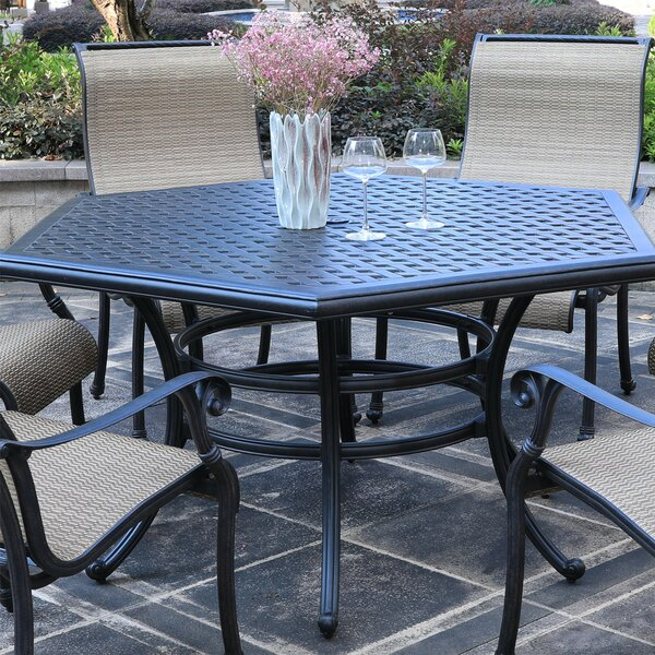 Paniz Aluminum Dining Table by Charlton Home