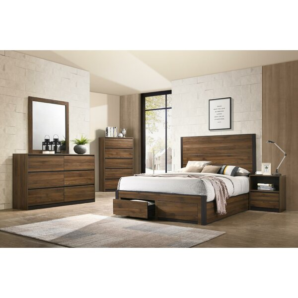 Myer Queen Standard 5 Piece Bedroom Set by Union Rustic