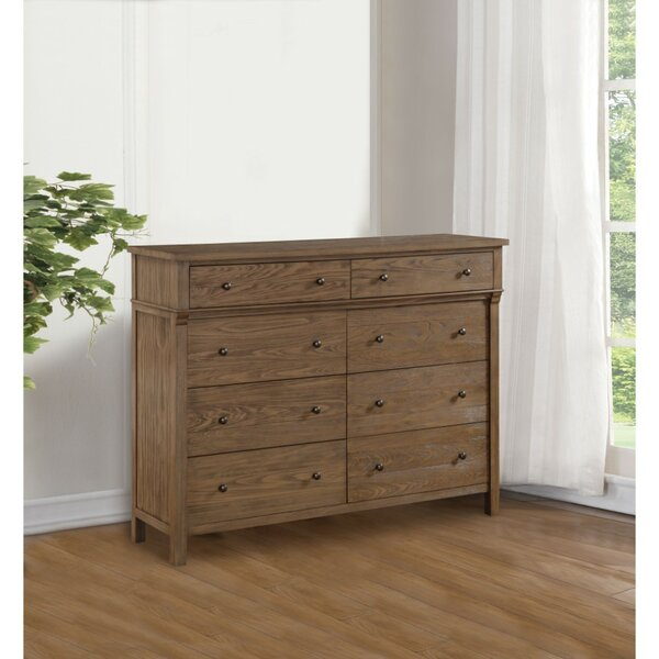 Starla Transitional Wood 8 Drawers Double Dresser by Canora Grey