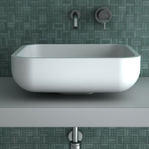 Jimmy Rectangular Vessel Bathroom Sink by Maestro Bath