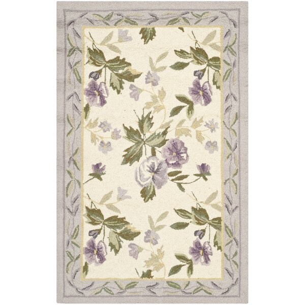 Isabella Ivory/Pruple Area Rug by August Grove