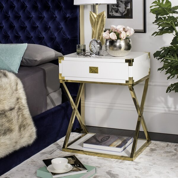 Neria Sled End Table With Storage By Mercer41