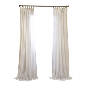 Cristopher Solid Sheer Rod Pocket Single Curtain Panel