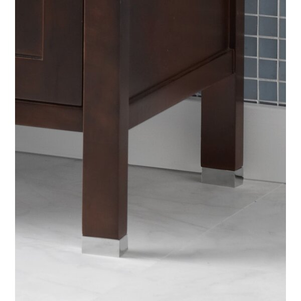 3/4 Metal Feet for the Juno or Minerva Bathroom Vanity Collection in Polished Chrome (Set of 4) by Ronbow
