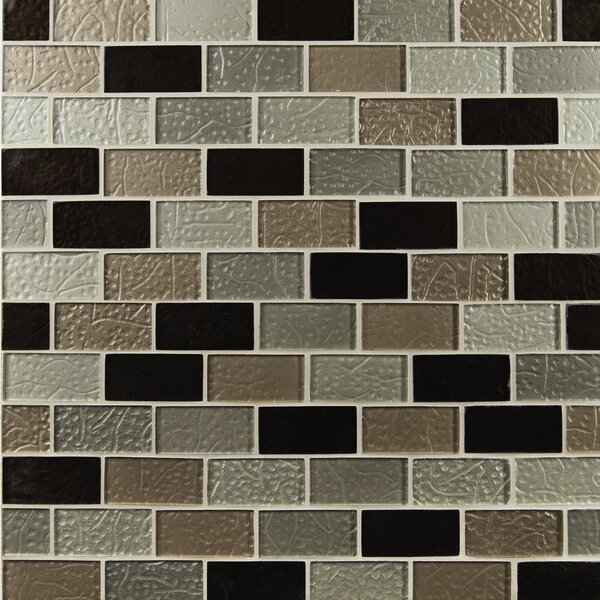 Ayres Mounted 2 x 4 Glass Subway Tile in Multi by MSI