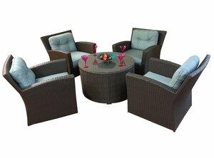 Sonoma 5 Piece Sunbrella Conversation Set with Cushions by ElanaMar Designs