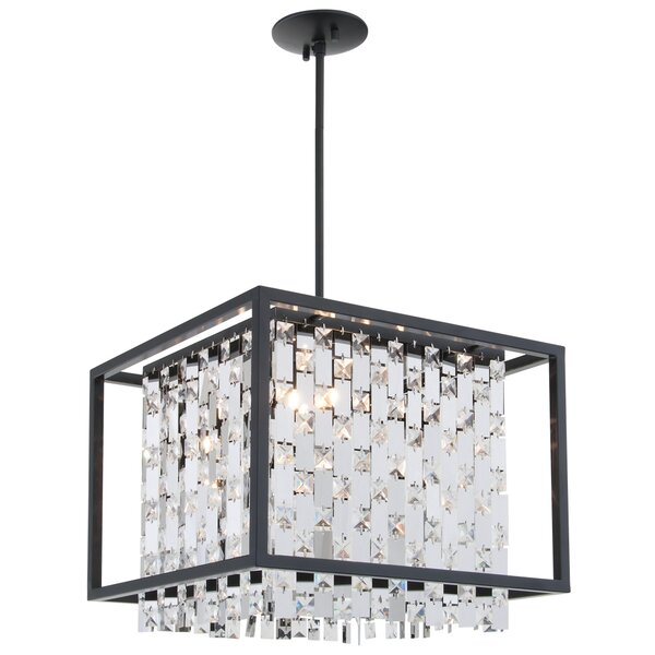 Whitfield 4 - Light Lantern Rectangle Chandelier By Rosdorf Park