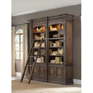 Rhapsody Double Bookcase with Ladder Hooker Furniture