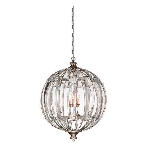 Baranowski 6-Light Unique / Statement Globe Chandelier by House of Hampton House of Hampton