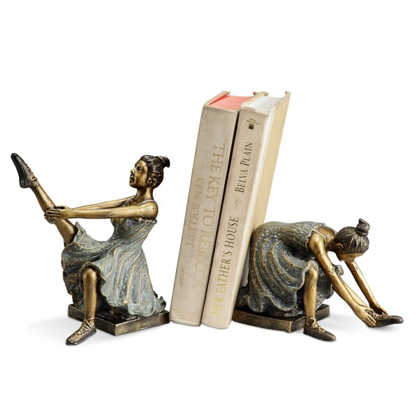 Ballerina Students Book Ends (Set of 2) by Darby Home Co