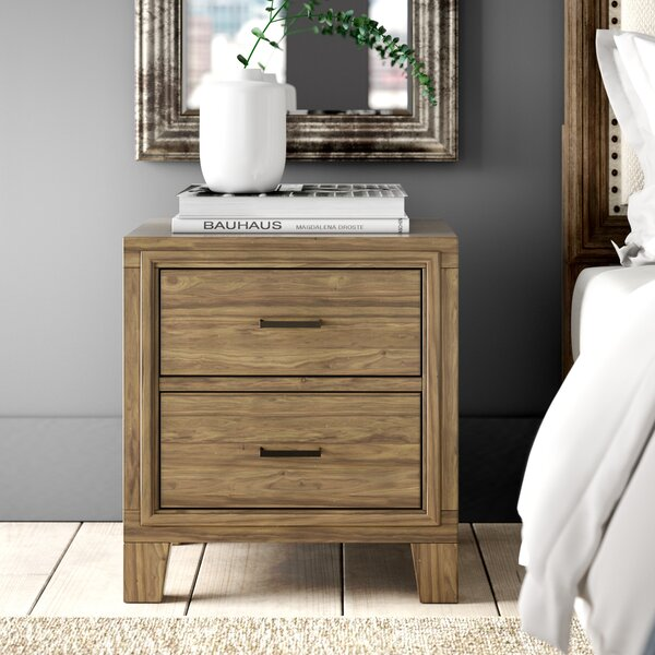 Krum 2 Drawer Nightstand by Greyleigh