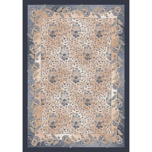 Pastiche Kashmiran Caramay Blue Smoke Area Rug by Milliken