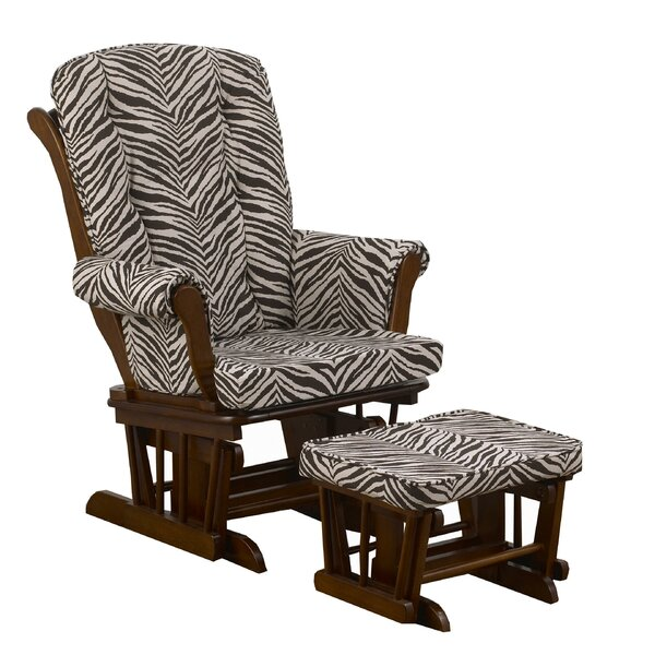 Sumba Small Zebra Print Glider with Ottoman by Cotton Tale