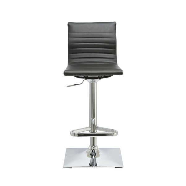 Kranz Adjustable Height Swivel Bar Stool by Orren Ellis