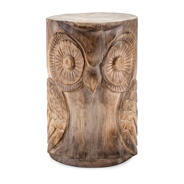 Houlihan Wooden Owl Garden Stool by August Grove