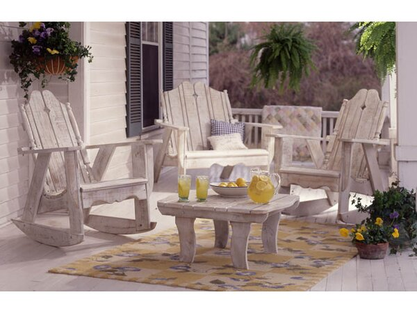 Nantucket Wood Rocking Adirondack Chair by Uwharrie Chair