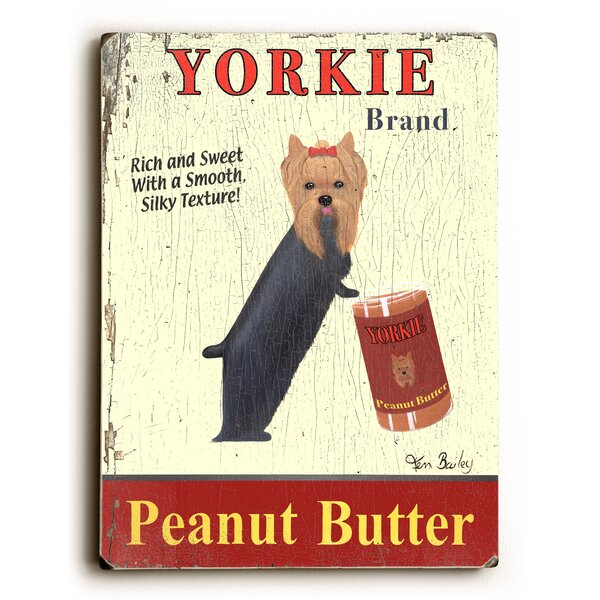 Yorkie Peanut Butter Vintage Advertisement by Artehouse LLC