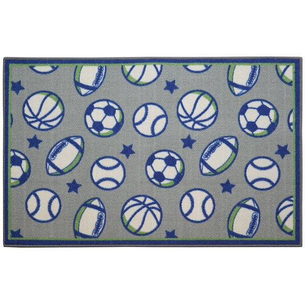 SPORTS BLUE/GREEN Area Rug by Brumlow Mills
