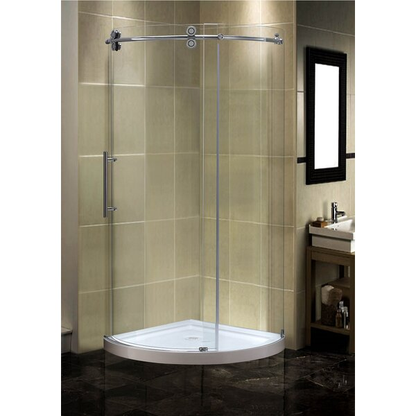 Orbitus 40 x 75 Round Sliding Shower enclosure by Aston