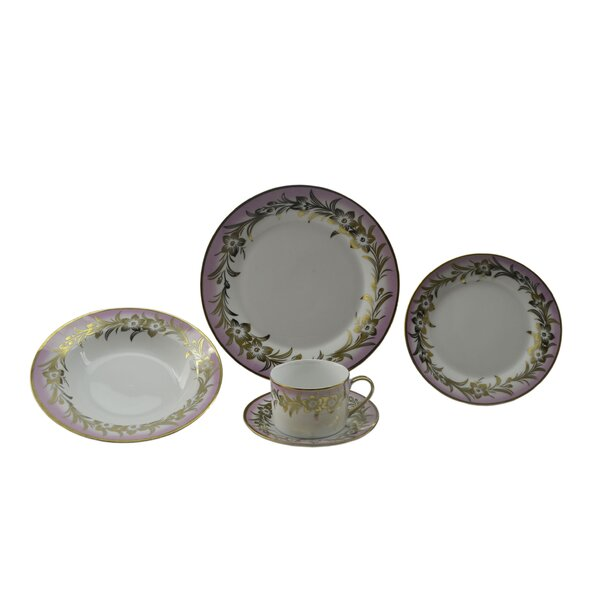Floral 40 Piece Dinnerware Set, Service for 8 by Three Star Im/Ex Inc.