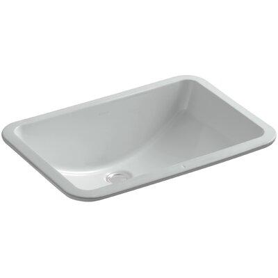 Undermount Sink Ceramic Rectangular Overflow Sink Grey photo