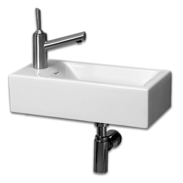 Isabella Vitreous China 20 Wall Mount Bathroom Sink by Whitehaus Collection