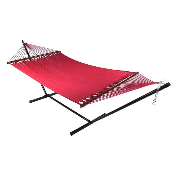 Wessels Large 2 Person Rope Hammock with Stand by Breakwater Bay