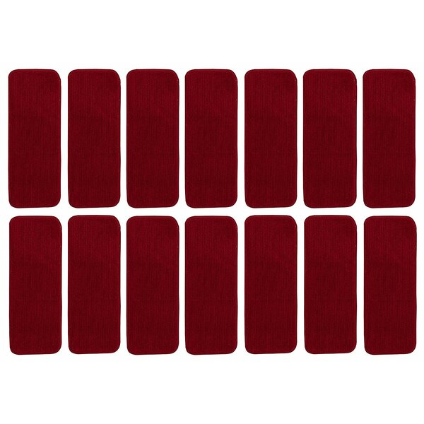 Fagaras Solid Red Stair Tread (Set of 14) by Winston Porter