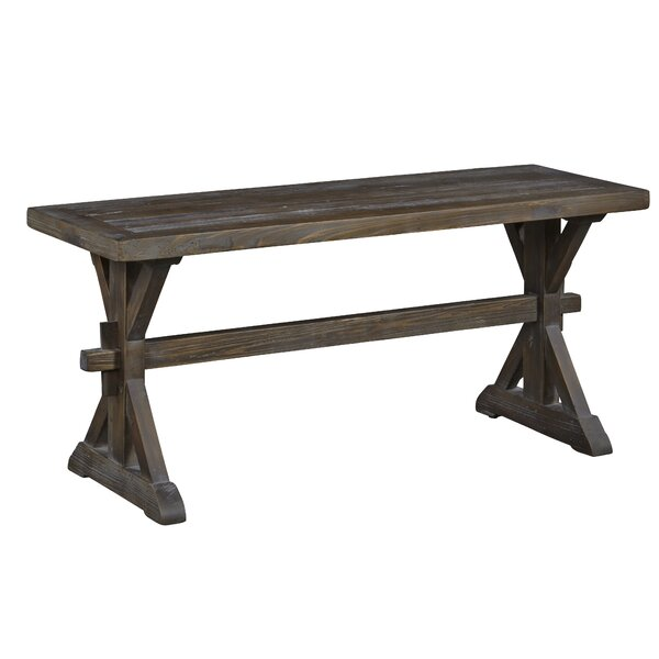 Marnie Wood Bench by Gracie Oaks