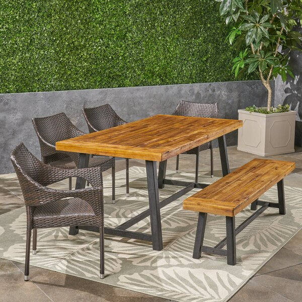 Ludie 6 Piece Teak Dining Set by Williston Forge