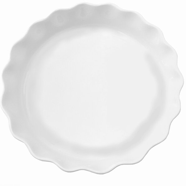 Round Ruffled Stoneware Pie Dish Bakeware by Cook Pro