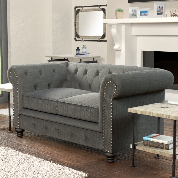 Great Selection Lindstrom Chesterfield Loveseat Huge Deal on