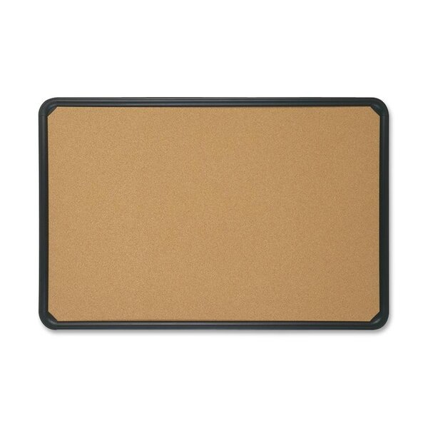 Natural Cork with Plastic Frame Bulletin Board by Quartet®