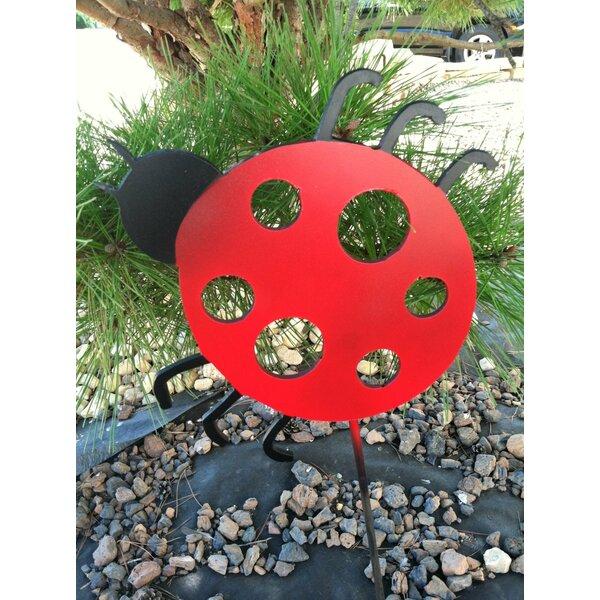 Enriquez Metal Ladybug Garden Stake by Red Barrel Studio