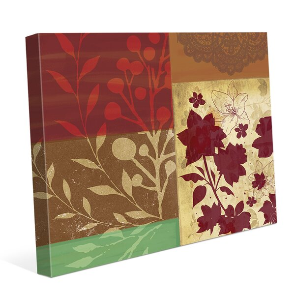 Fiery Flowers Graphic Art on Wrapped Canvas by Click Wall Art